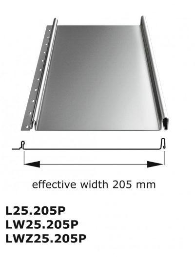 L25 lambda előkorcolt tető lemez