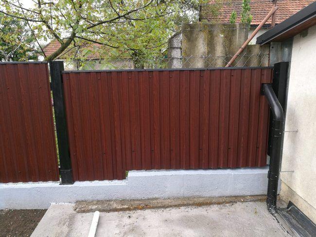 trapézlemez kerítés